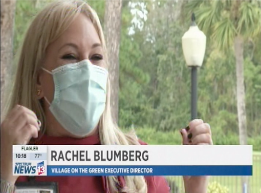 Rachel Blumberg on a local news channel
