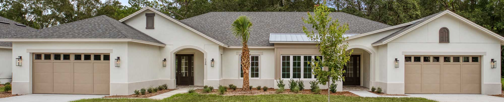 Exterior of luxury senior home in Orlando FL