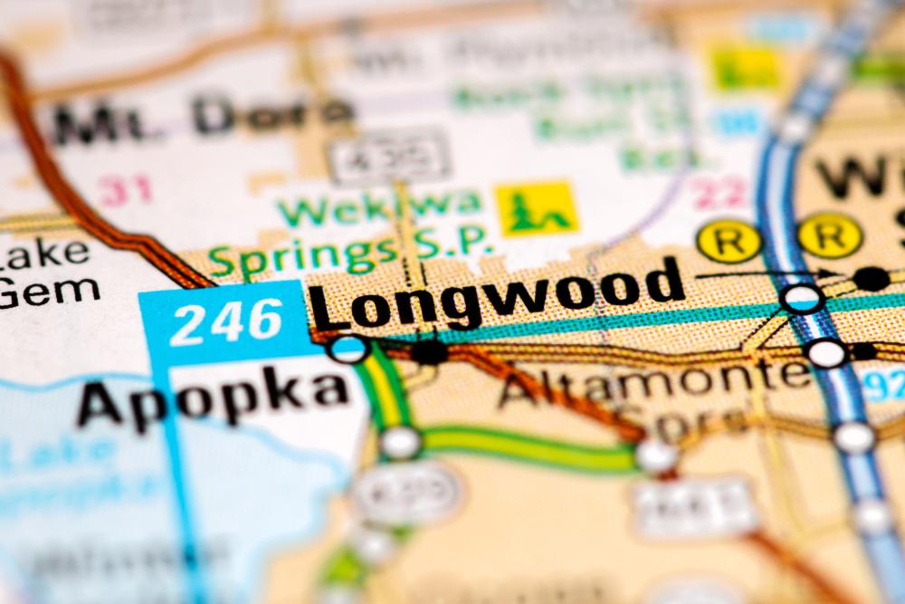 Map of Longwood Florida